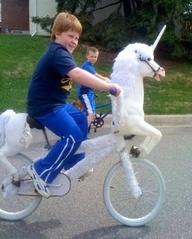 unicorn white bike